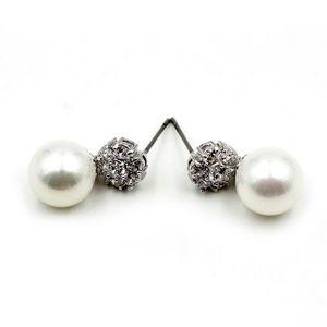 Fashion pearls crystal earrings